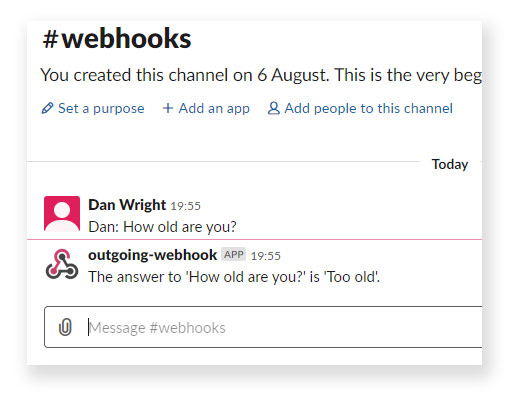 Slack Webhook Message